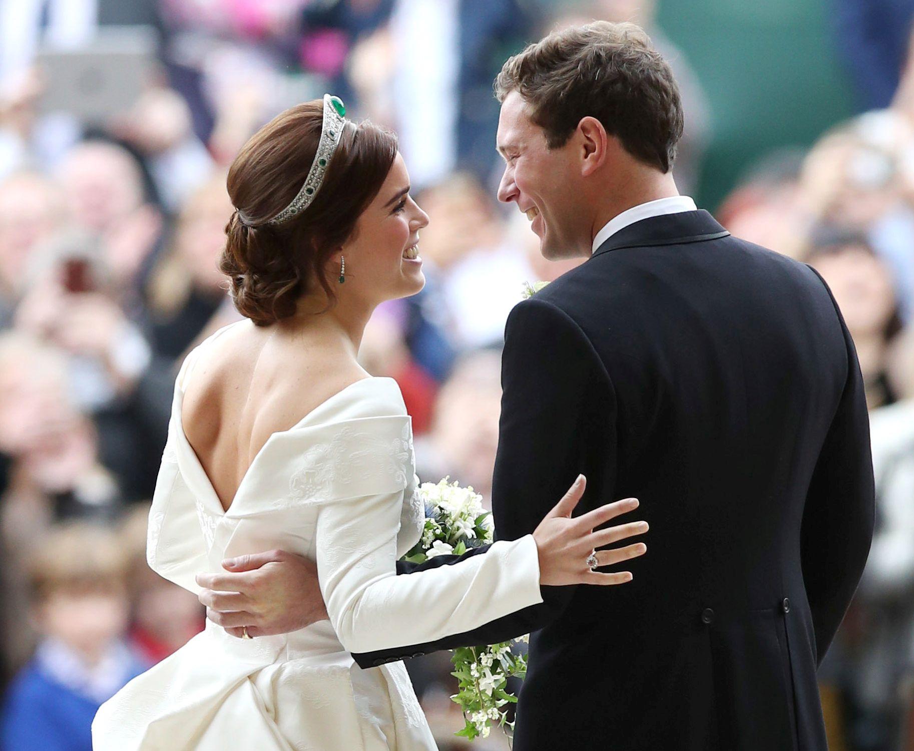 Prințesa Eugenie a ales să nu poarte voal la nuntă