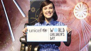 Millie Bobby Brown a devenit cel mai tânăr ambasador UNICEF al bunăvoinței